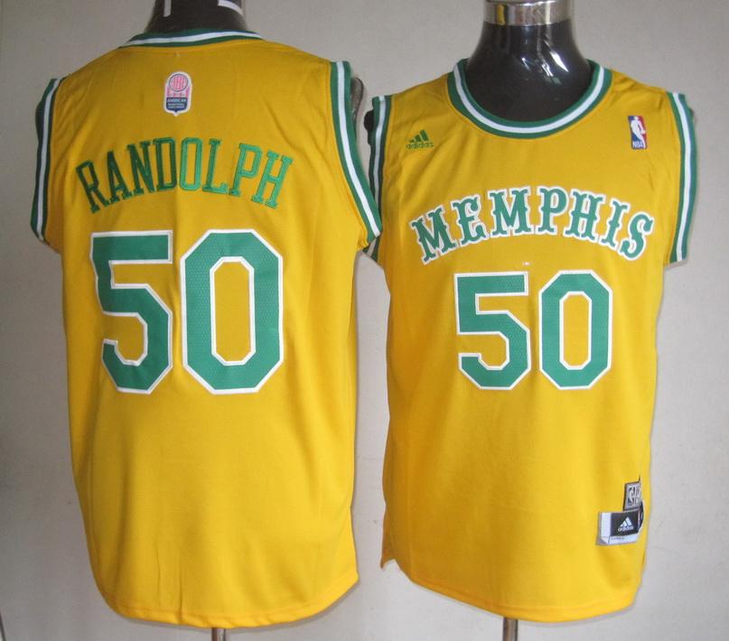 Grizzlies 50 Randolph Yellow Jerseys