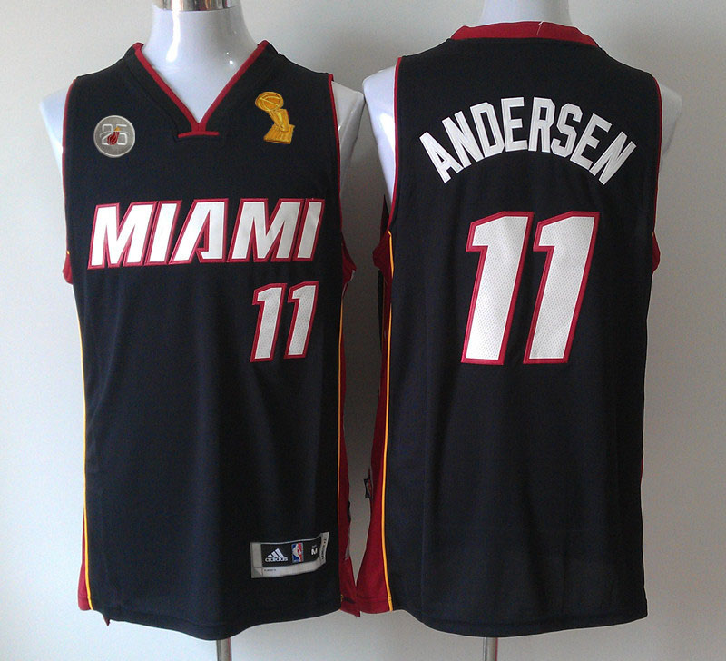 Heat 11 Andersen Black 2013 Champion&25th Patch Jerseys