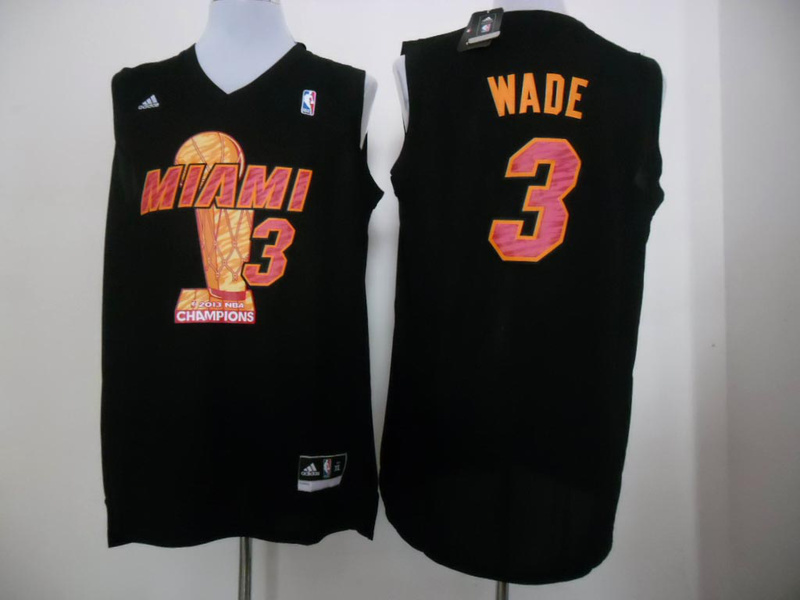 Heat 3 Wade Black 2013 Champions Jerseys
