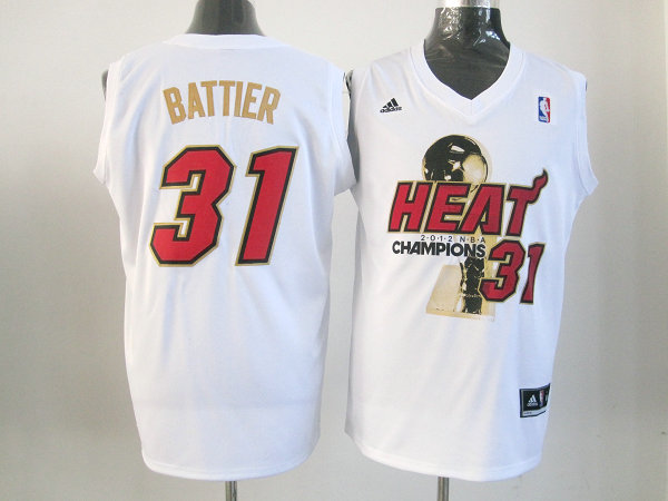 Heat 31 Battier White 2012 NBA Champions Jerseys