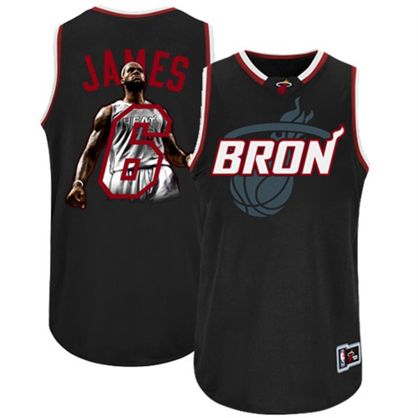 Heat 6 James Black Jerseys