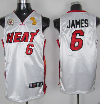 Heat 6 James White 2013 Champion&25th Patch Jerseys