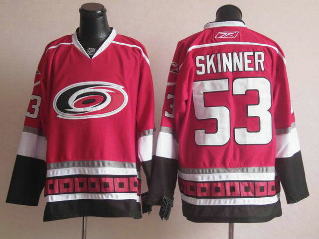 Hurricanes 53 Skinner Red Jerseys