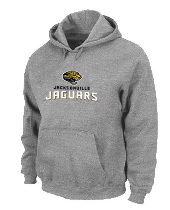 Jacksonville Jaguars Authentic Logo Pullover Hoodie Grey