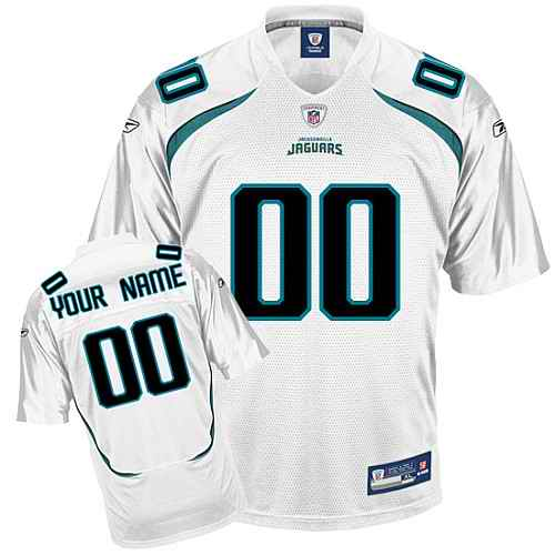 Jacksonville Jaguars Youth Customized White Jersey