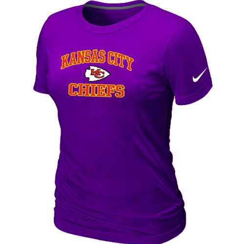 Kansas City Chiefs Women's Heart & Soul Purple T-Shirt