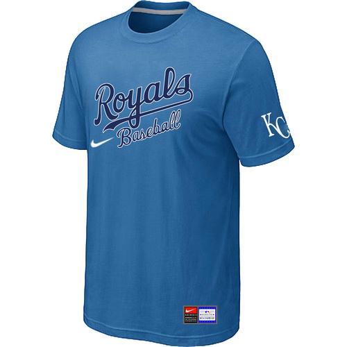 Kansas City Royals light Blue Nike Short Sleeve Practice T-Shirt