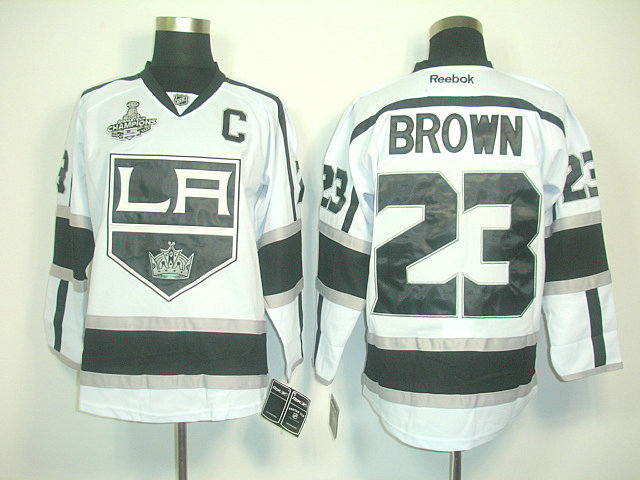 Kings 23 Brown White Champions&C Patch Jerseys