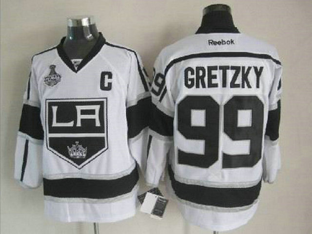 Kings 99 Gretzky White Finals&C Patch Jerseys