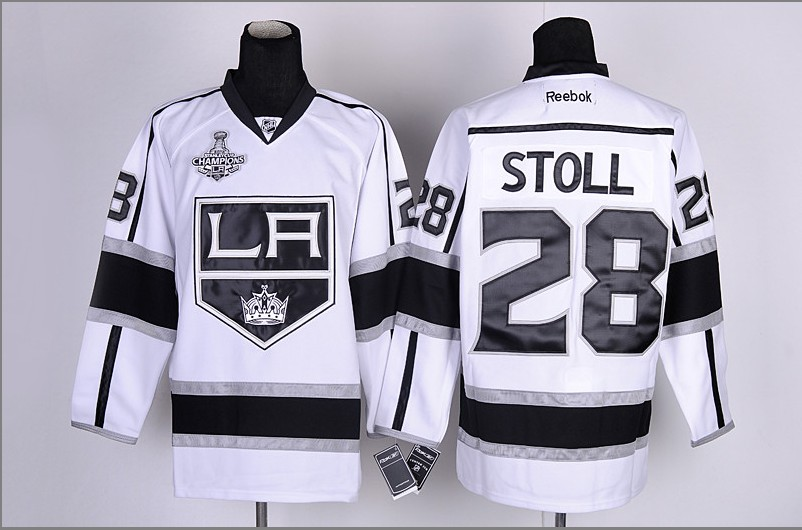 Los Angeles Kings 28 Stoll White&Black2012 Stanley Cup Champions Jerseys