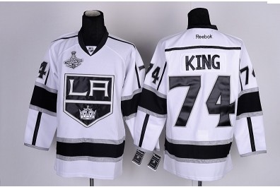 Los Angeles Kings 74 King White&Black2012 Stanley Cup Champions Jerseys