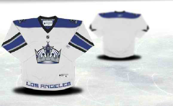 Los Angeles Kings Youth Customized White Jersey