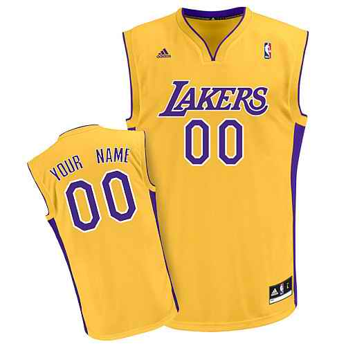 Los Angeles Lakers Youth Custom yellow Jersey