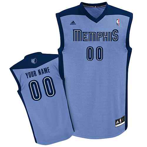 Memphis Grizzlies Youth Custom Lt blue Jersey