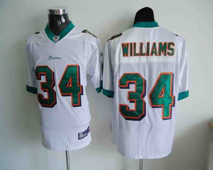 Miami Dolphins 34 Williams white Jerseys