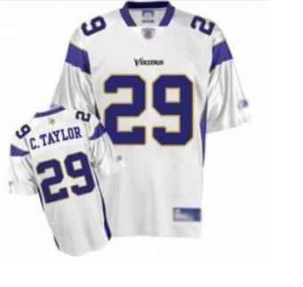 Minnesota Vikings 29 Chester Taylor White Jerseys