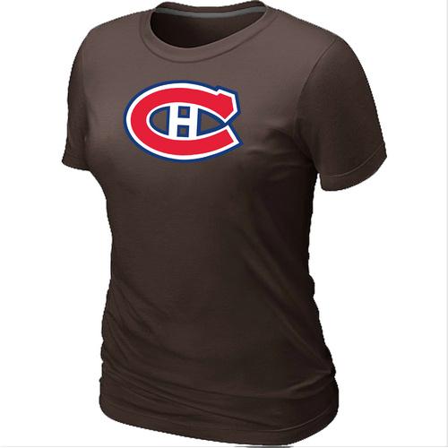 NHL Montr¨¦al Canadiens Big & Tall Women's Logo Brown T-Shirt