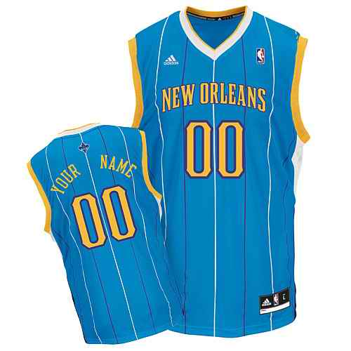 New Orleans Hornets Youth Custom blue Jersey