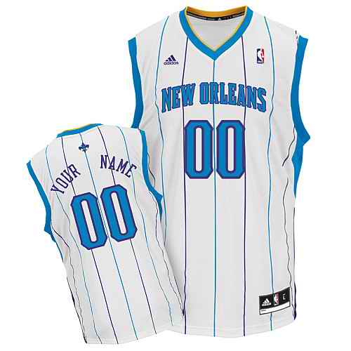 New Orleans Hornets Youth Custom white Jersey