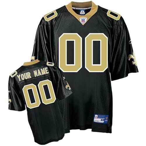 New Orleans Saints Youth Customized black Jersey