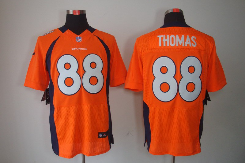 Nike Broncos 88 Thomas Orange Elite Jerseys
