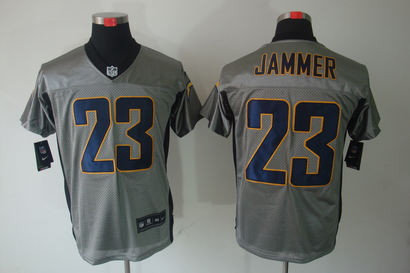Nike Chargers 23 Jammer Grey Elite Jersey