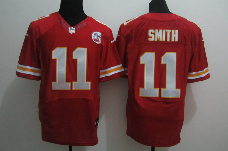 Nike Chiefs 11 Smith Red Elite Jerseys
