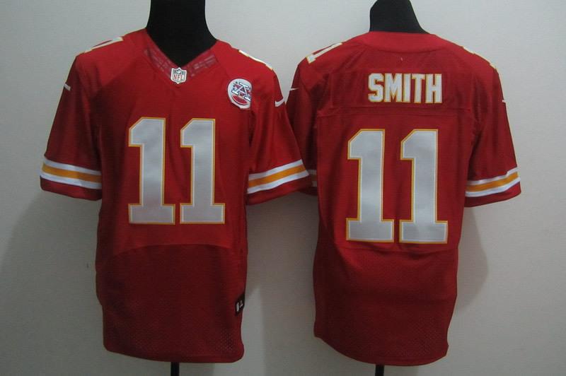 Nike Chiefs 11 Smith Red Elite Jerseys