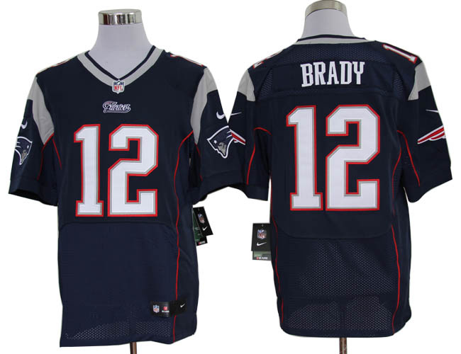 Nike Patriots 12 Brady blue elite jerseys