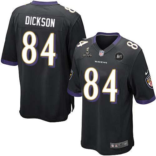 Nike Ravens 84 Dickson black Game 2013 Super Bowl XLVII and Art Jerseys
