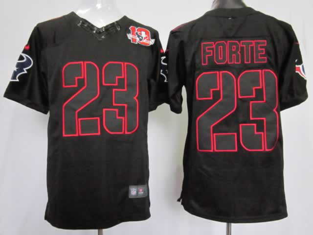 Nike Texans 23 Foster Black Impact Limited 10th Jerseys