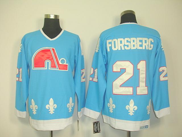 Nordiques 21 Foraberg light blue Jersey
