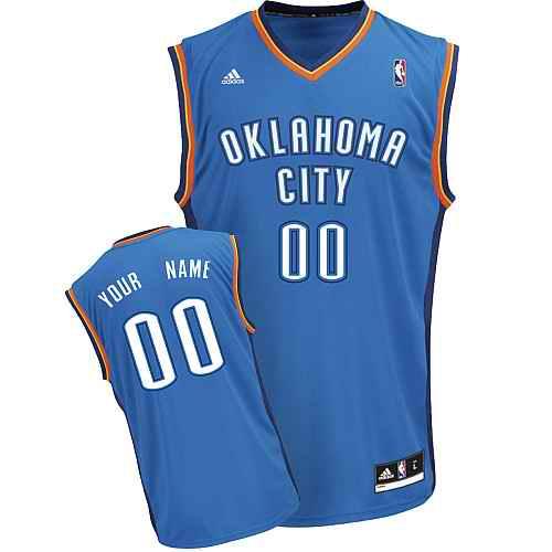 Oklahoma City Thunder Custom blue adidas Road Jersey