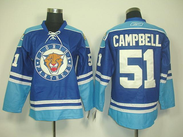 Panthers 51 Campbell Blue Jerseys