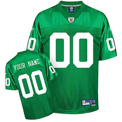 Philadelphia Eagles Men Customized new green Jersey
