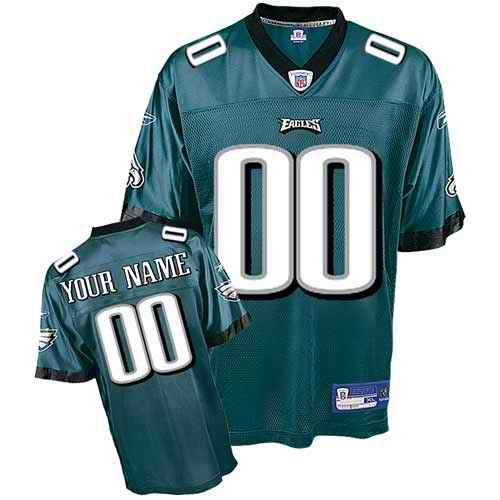 Philadelphia Eagles Youth Customized green Jersey
