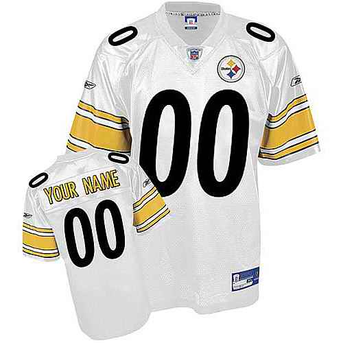 Pittsburgh Steelers Youth Customized White Jersey