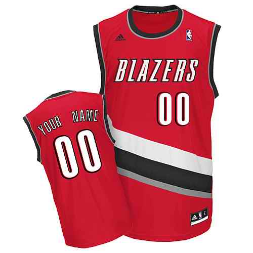 Portland Trail Blazers Custom red Alternate Jersey