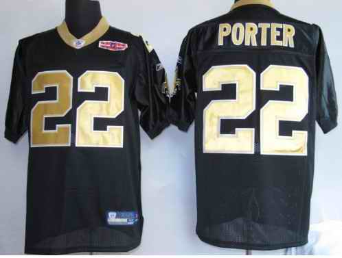 Saints 22 porter black Jerseys