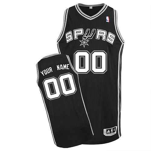 San Antonio Spurs Custom black Road Jersey