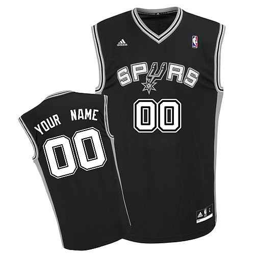 San Antonio Spurs Youth Custom black V-neck Jersey