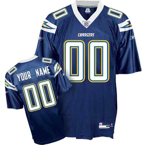 San Diego Chargers Youth Customized dark blue Jersey
