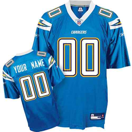 San Diego Chargers Youth Customized light blue Jersey
