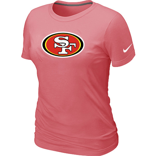San Francisco 49ers Pink Women's Logo T-Shirt