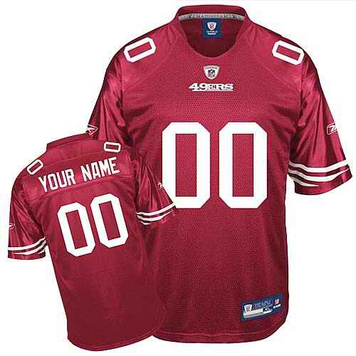 San Francisco 49ers Youth Customized red Jersey