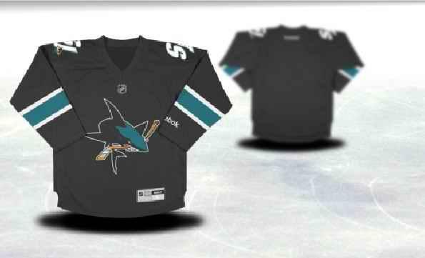 San Jose Sharks Youth Customized Black Third Jersey