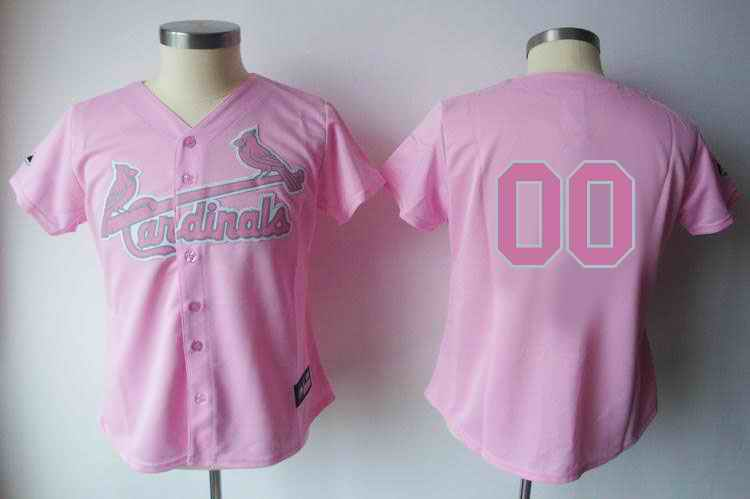 St. Louis Cardinals Blank Pink Women Custom Jerseys