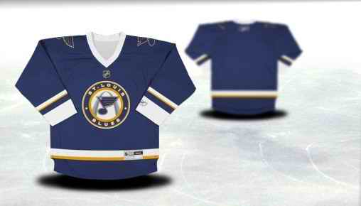 St.Louis Blues Youth Customized Blue Third Jersey