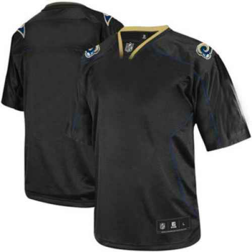 St.Louis Rams Men Customized black field shadow Jersey
