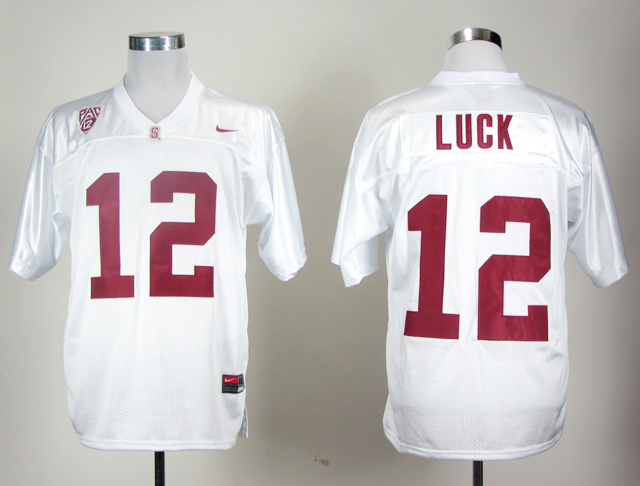 Stanford Cardinals Andrew Luck 12 White Jersey